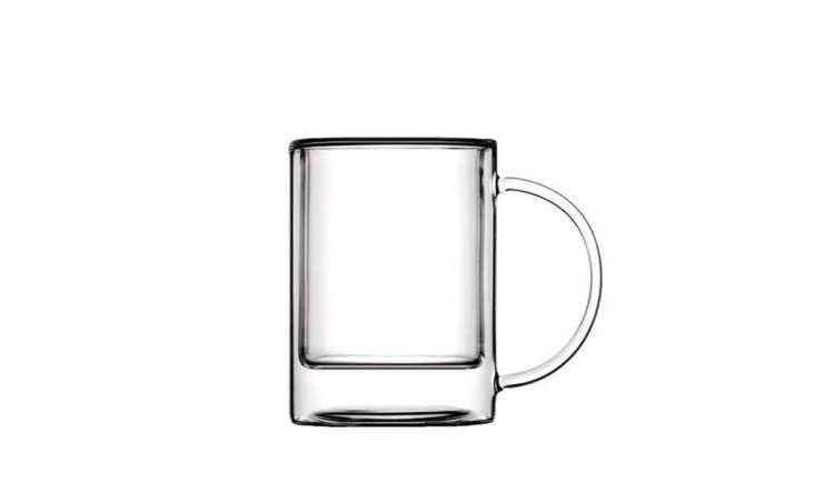 luminaire clear glass teacup