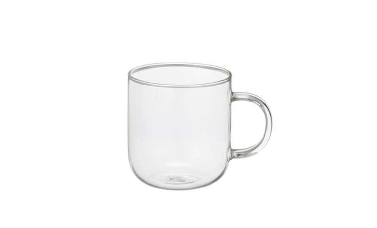 muji clear glass teacup