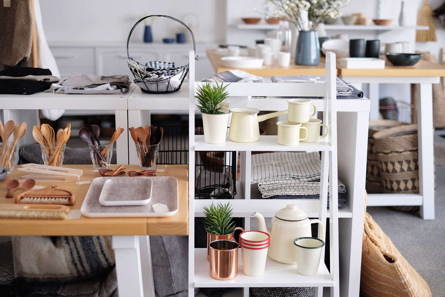 No. 56 offers a variety of wares from Remodelista favorites Falcon Enamelware, Fog Linen Work, and Iris Hantverk.