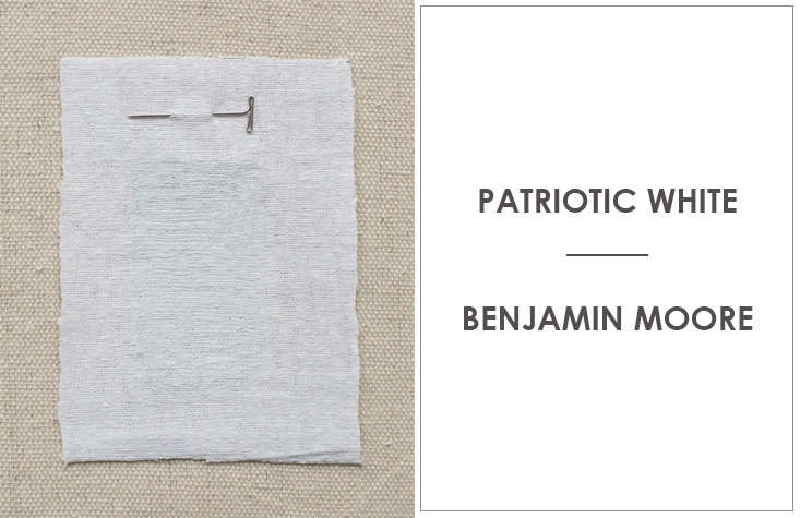 Patriotic White by Benjamin Moore is a favorite of Kriste Michelini Interiors.