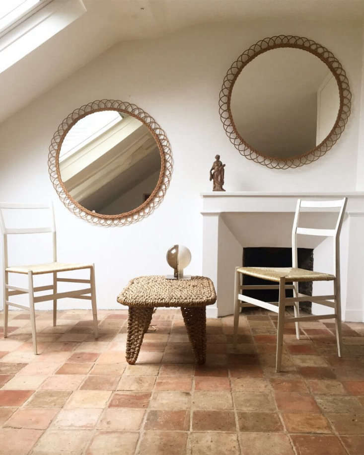 Rattan-framed mirrors are a revived South of France tradition. The Studio VimeXXL Rattan Mirror is€850. Custom sizes are also available.