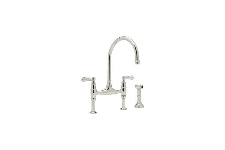 The Rohl Polished Nickel Bridge Faucet is $loading=