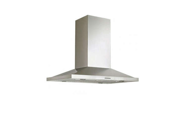 The Signature Hardware 36-Inch Artisan Series Island Range Hood is made of -gauge stainless steel and a three-speed internal blower; $549.95 at Signature Hardware.