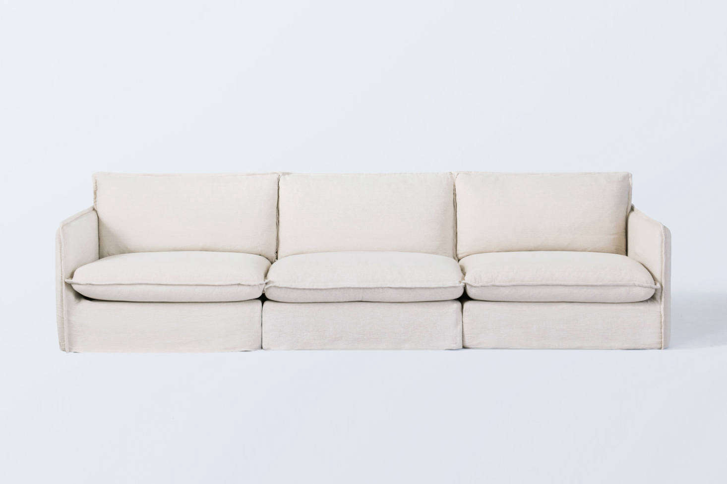 One of our favorite dependable sofas under $3,000: the Sixpenny Neva Modular 3-Piece Sofa, with a kiln-dried hardwood frame, reinforced corner blocking, and feather down cushions. See  Easy Pieces: 'First Sofas' Under $3,000 for nine more we like.