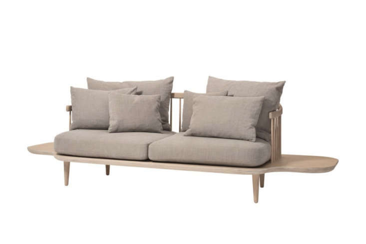 the fly sofa sc3 has an extended oak base for a built in table. it&#8\2\17; 11