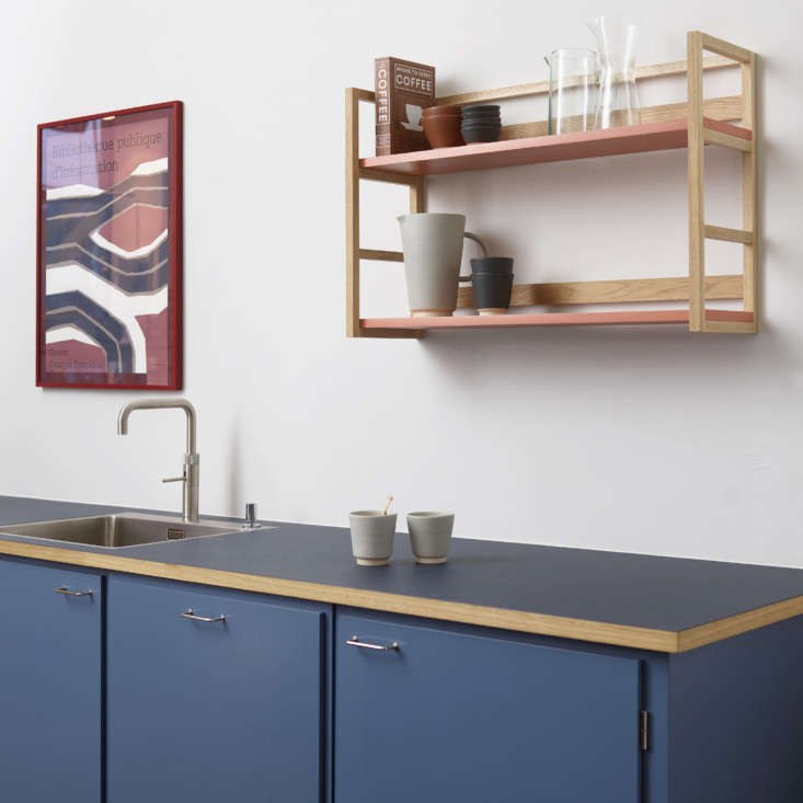 """The stainless steel sink is from Blanco and the faucet is the Quooker Fusion Square Faucet. """"We like to emphasize the kitchen as a modern place for modern people, so we chose a modern tap with a design that isn't over the top."""""""