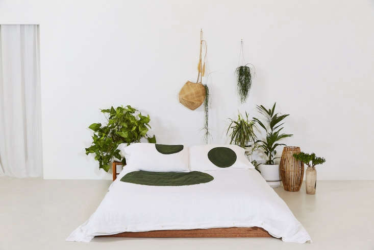 The Olive Daily Meditation Duvet Cover.