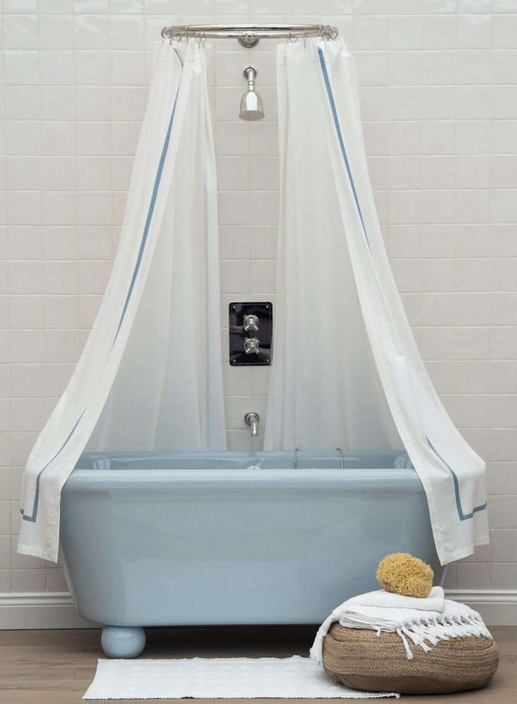 The Rockwell Bath in full color, shown in Powder Blue, is £4,700.