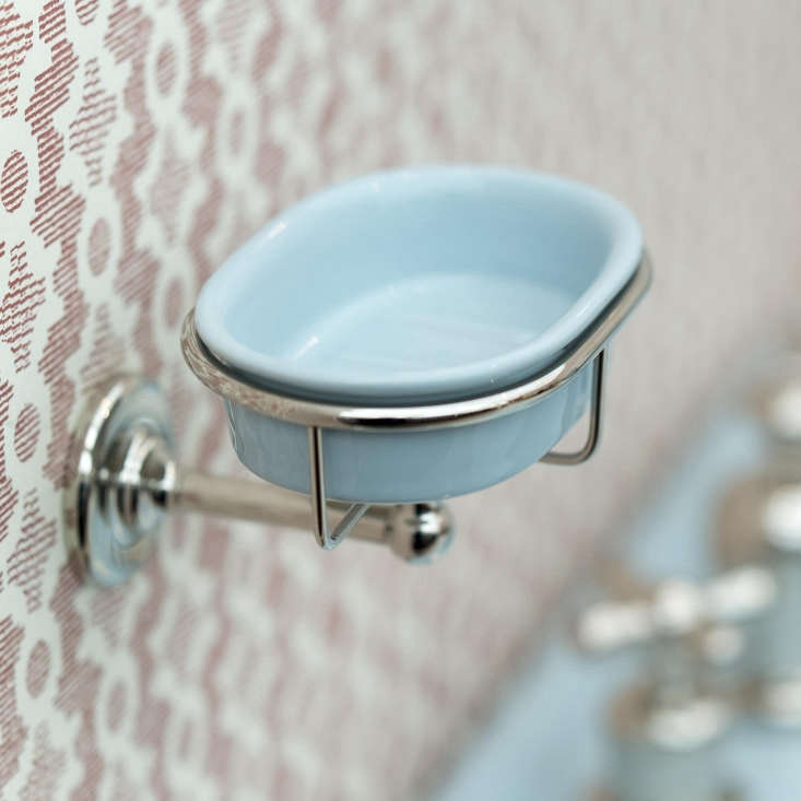 TheColored Rockwell Soap Dish is wall-mounted and comes in all colors; £