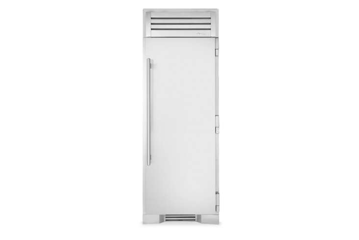 the slender true residential 30 inch refrigerator with a stainless door. 14