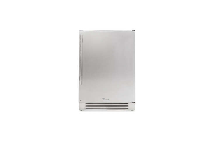 The True Residential Undercounter Refrigerator in stainless steel is available through AJ Madison.For more ideas, see our recent post Easy Pieces: Compact Refrigerators.