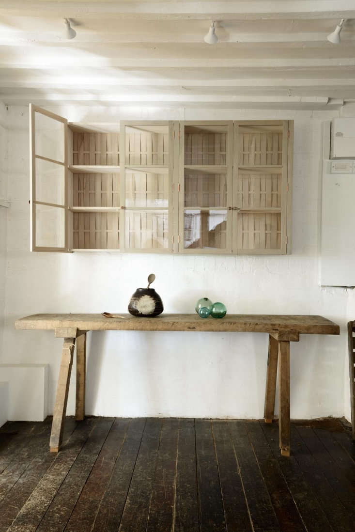 Unfinished wood (and glass) cabinets at deVol&#8