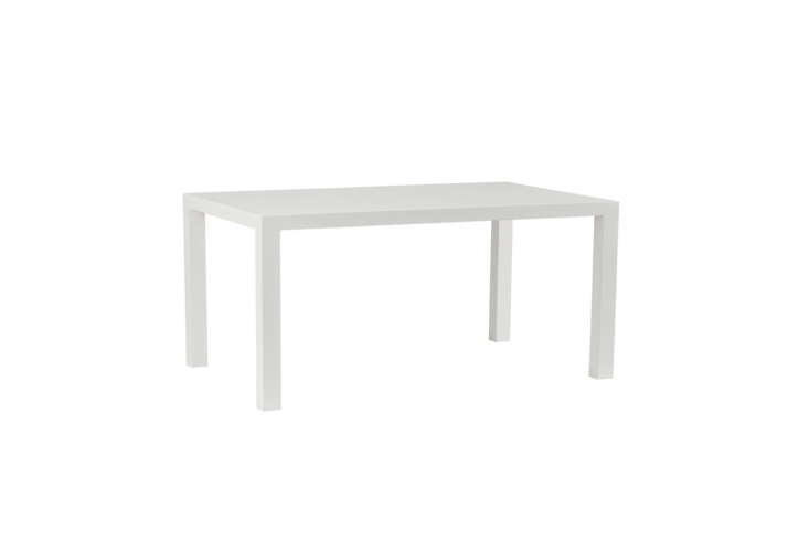 For a similar-style Parsons coffee table, the Urban Green Furniture Parsons Coffee Table in white-painted eco MDF is $469.