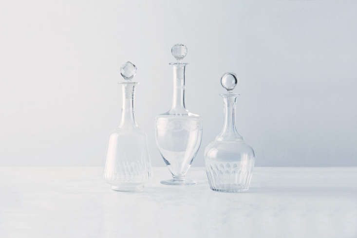 Steal This Look A ShakerStyle Kitchen in Full Color Vintage French Liquor Decanters are available for \$98 each through the Food5\2 Vintage Shop.