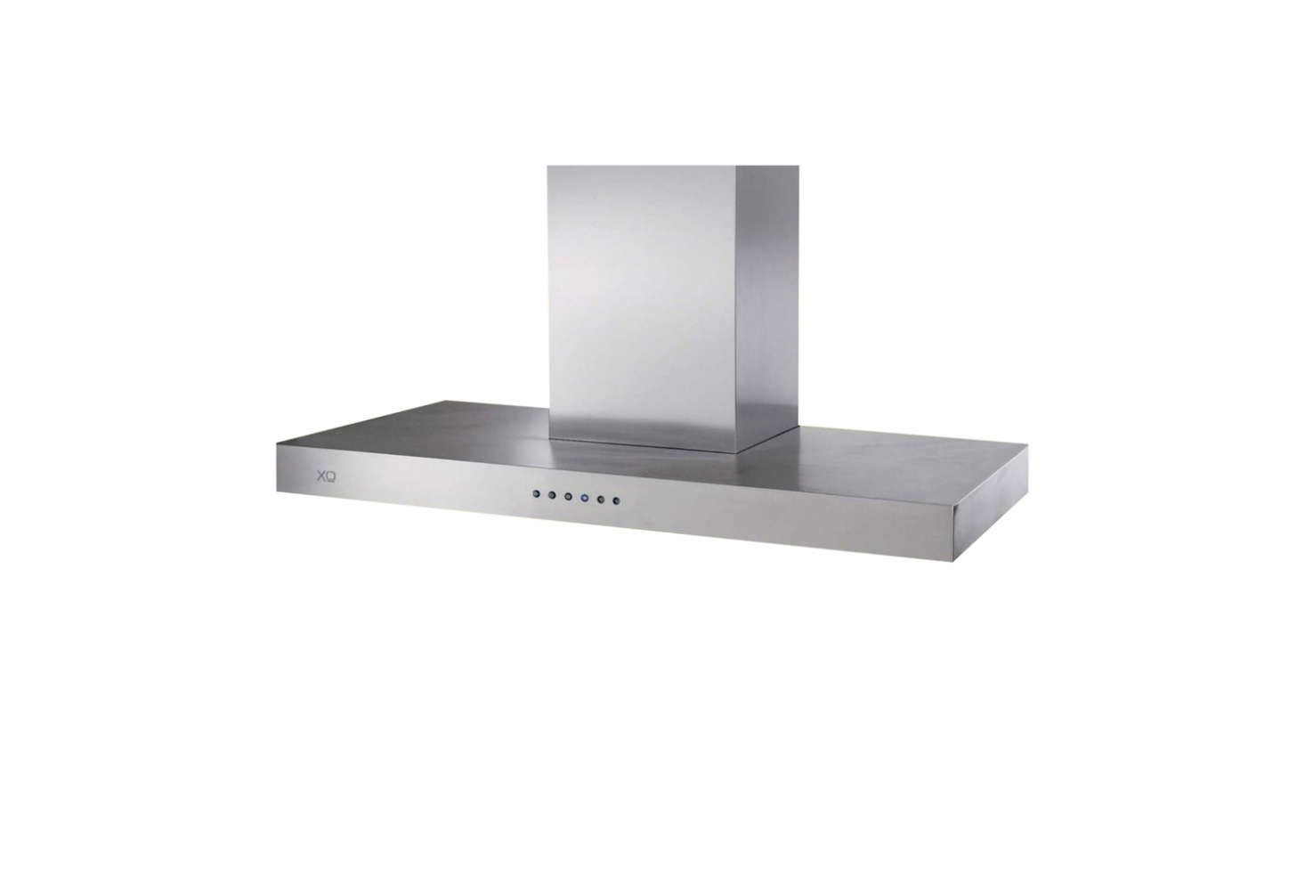 The XO Low Profile Range Hood Island Mount Chimney in stainless steel has a 600 CFM motor and three-speed blower; $src=