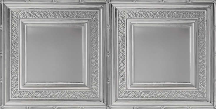 armstrong ceilings&#8\2\17; metallaire tiles in pattern hammered border, sh 15