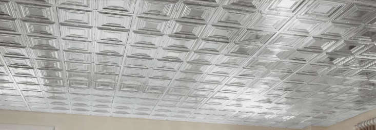 armstrong ceilings&#8\2\17; metallaire medium panels in chrome installed in 14