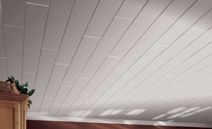 armstrong ceilings&#8\2\17;woodhaven planks inpainted white. 10