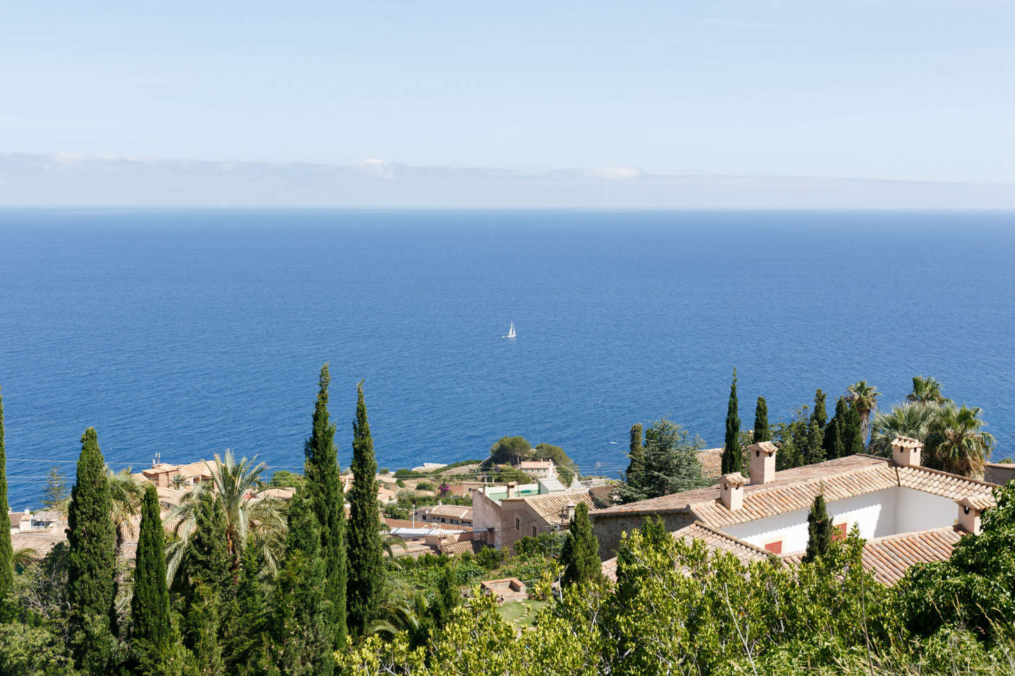 The bedrooms have unobstructed views of the Balearic Sea.