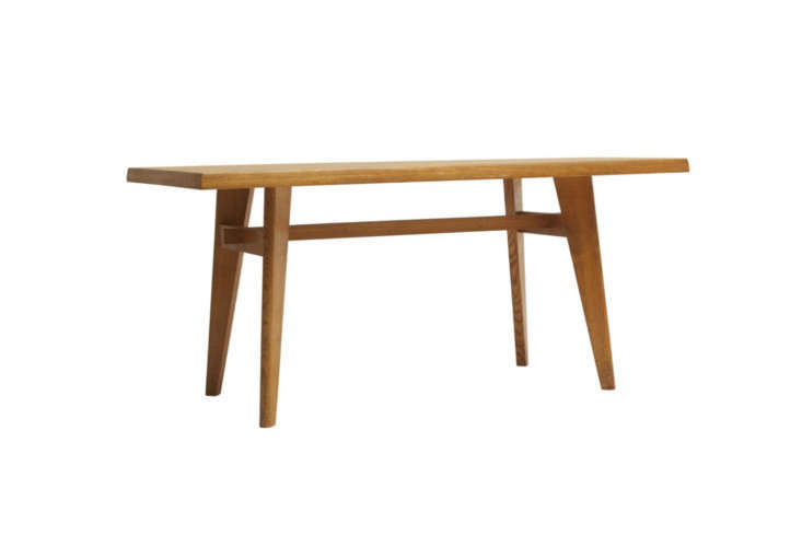 the kitchen table is another jeanneret teak design, the pgi university dining t 16