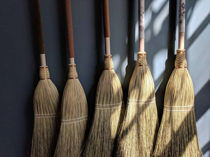 A selection of brooms from Custodian. Erin adds handmade &#8
