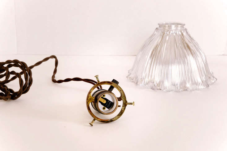 Once your shade is completely dry, reassemble the pendant lamp.