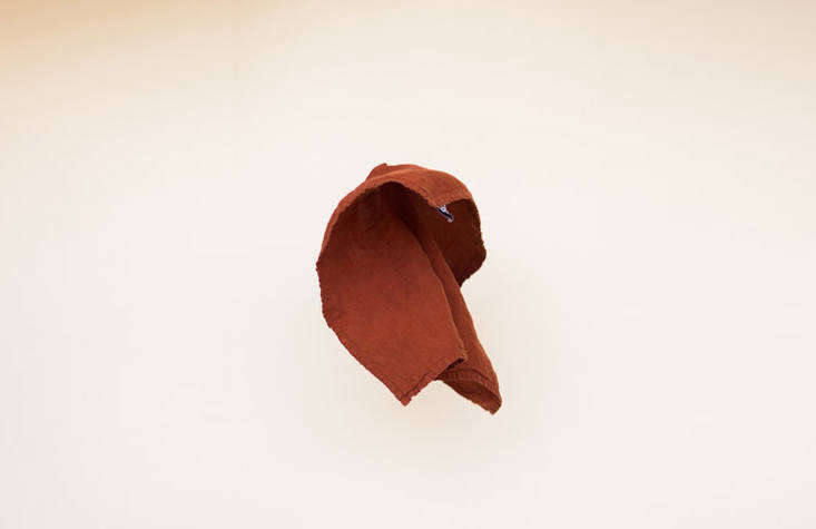 a perfect linen napkin (\$\20), this one in rust.the collection is &#8\2\ 17