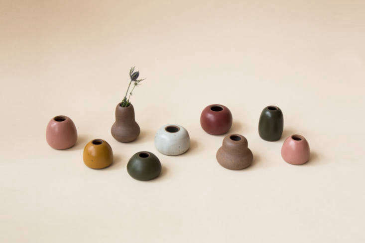 we also like the small shapes vases (\$\28 each); perfect for tiny buds and sin 21