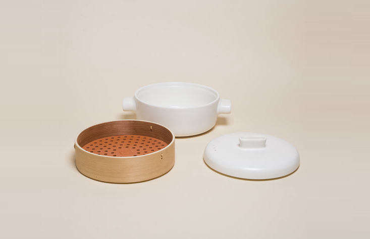 the steamer set (\$\14\2) by jia is made of cedar and terracotta, and can doubl 19
