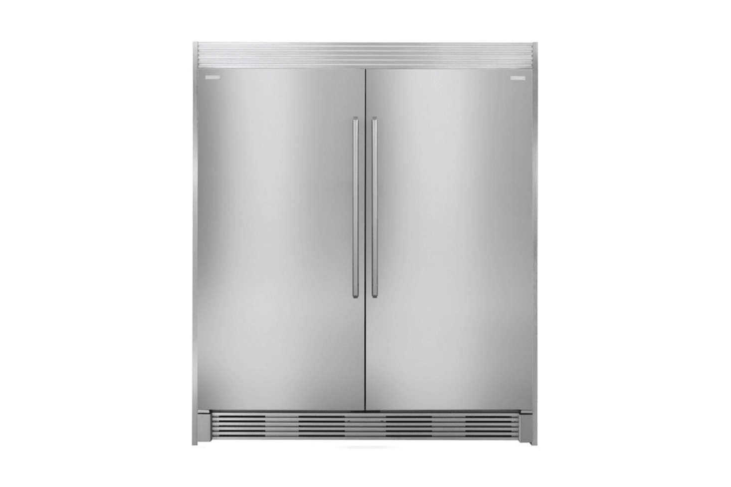The refrigerator is an Electrolux Side-by-Side Column Refrigerator and Freezer Set; $4,545. at AJ Madison.