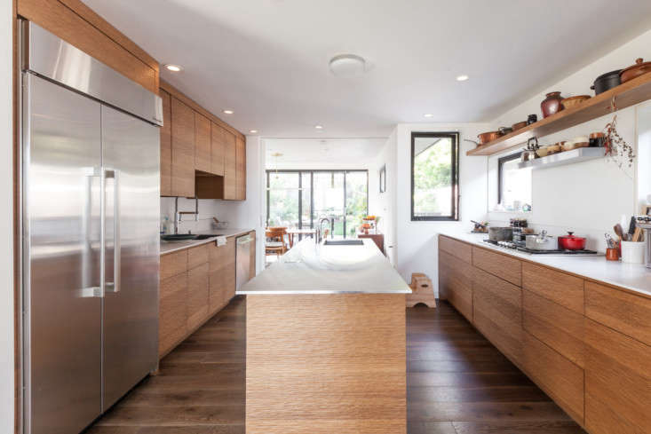 Elisabeth Prueitt and Chad Robertson of famed San Francisco bakery Tartine moved into a house with a preexisting kitchen, but they didkit it out their own way, using the island as a &#8