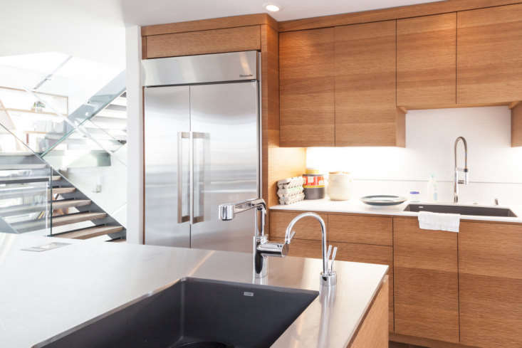 The island had a built-in hot water tap, which Prueitt learned to appreciate: &#8