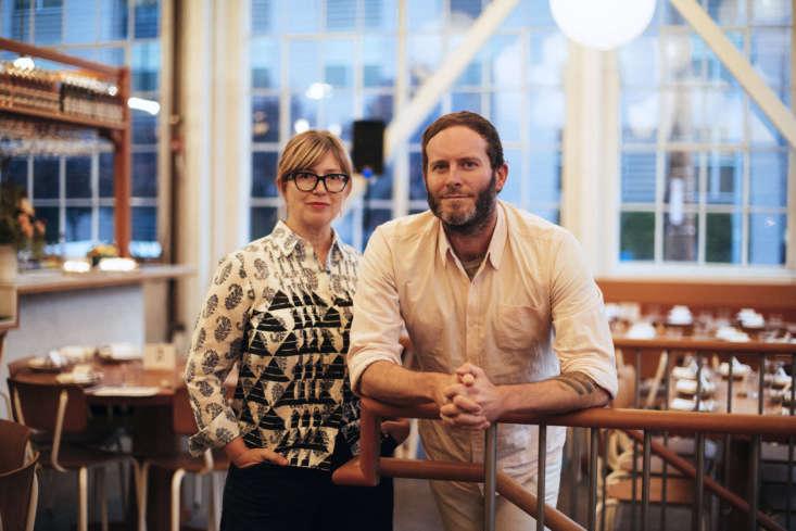 Elisabeth Prueitt and Chad Robertson at their latest establishment, Tartine Manufactory. Photograph byEric Wolfinger.