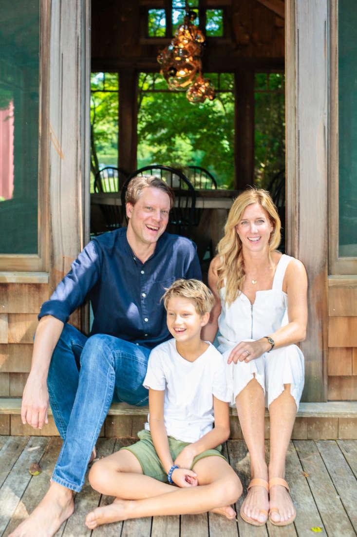 Architect Elizabeth Roberts, her husband, Michael McKnight, and their son, Dean.