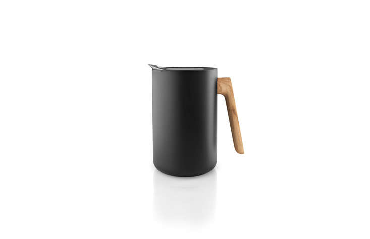 Although theNordic Vacuum Jug is made of black plastic, we like its functional design, with a drip-free spout and steel vacuum insert that keeps liquids hot; it&#8