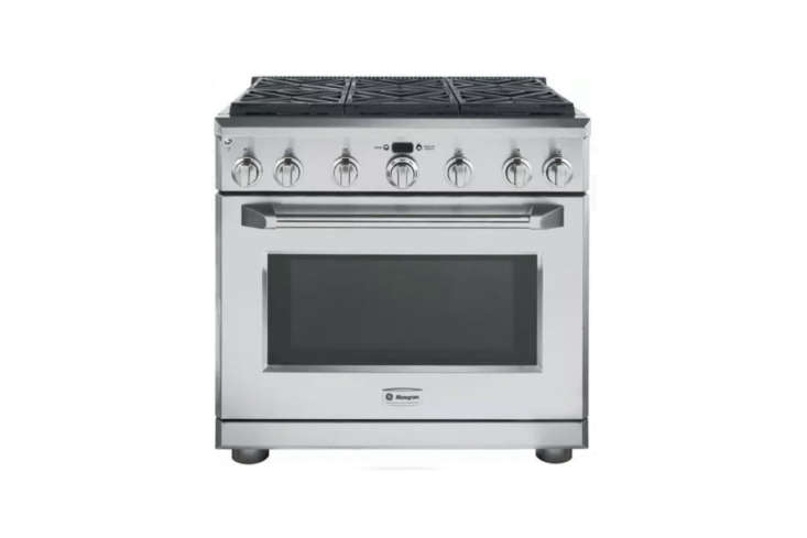 The GE Monogram 36-Inch Pro-Style Gas Range is $6,000 at AJ Madison. For more, see  Easy Pieces: Freestanding 36-Inch Kitchen Ranges.