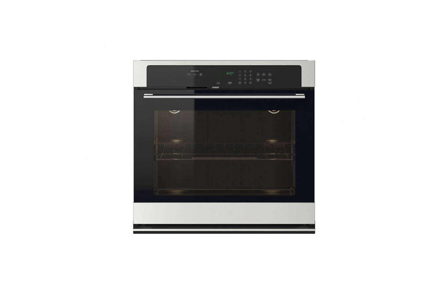The stacked microwave oven and wall oven are both from Ikea though no longer available. Ikea&#8