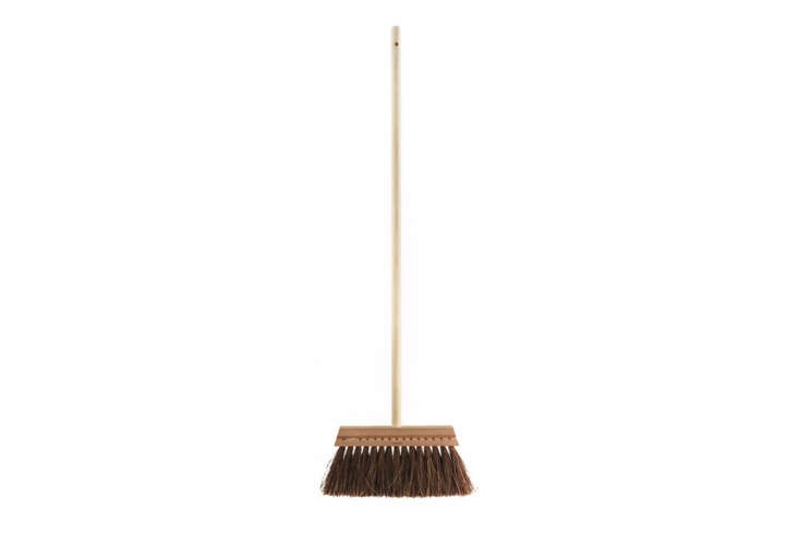 From Swedish company Iris Hantverk, which employs visually impaired craftspeople, theSwedish Broom has a birch handle and palmyra fiber brush is $40 at Mûr Lifestyle.