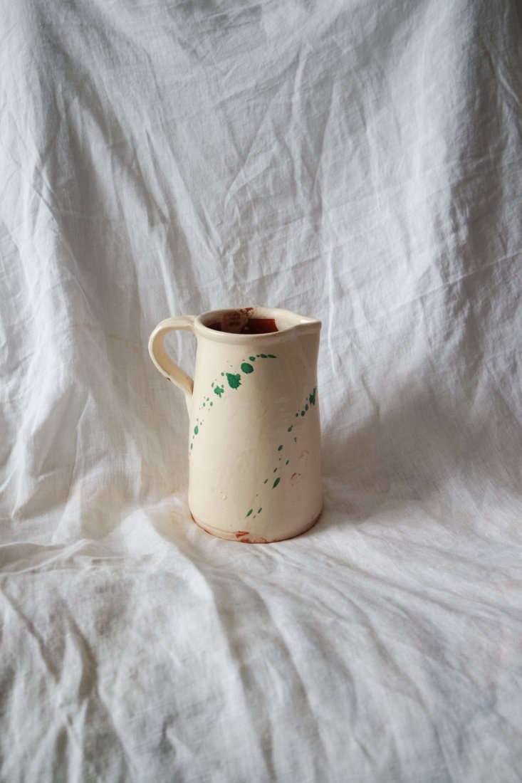 The spatterware Jug is part of a collection designed by June Studios and &#8