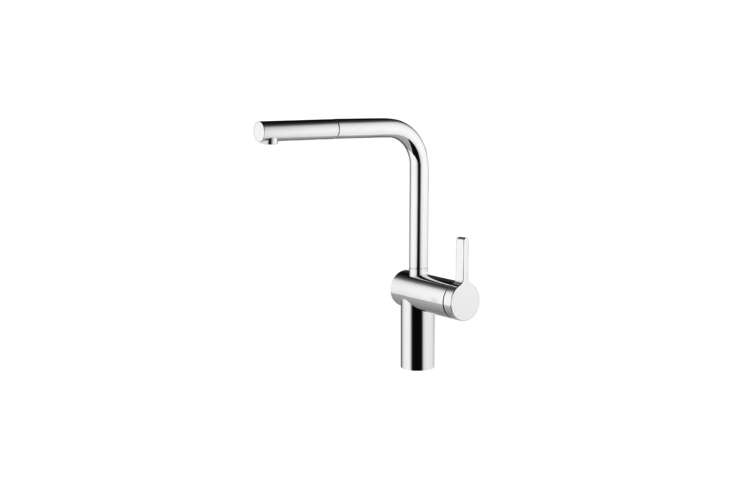 The KWC Livello Single Lever Mixer with Pull-Out Spray is $734.40 at Quality Bath.