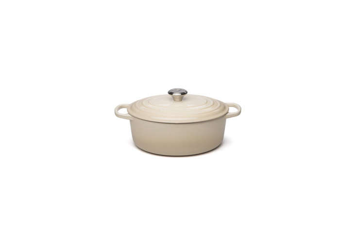 The Le Creuset Signature Dune Oval Casserole is $433 at Peter&#8