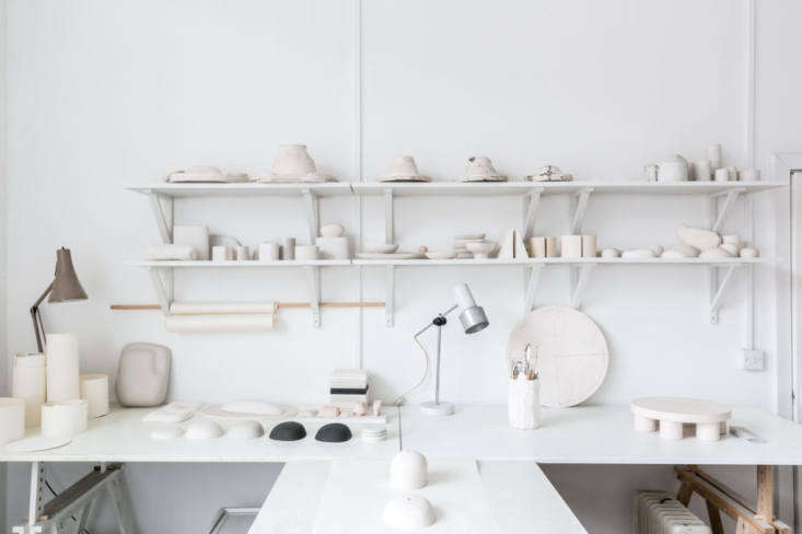 Malgorzata's studio is, like the kitchen, organized by way of Ikea&#8