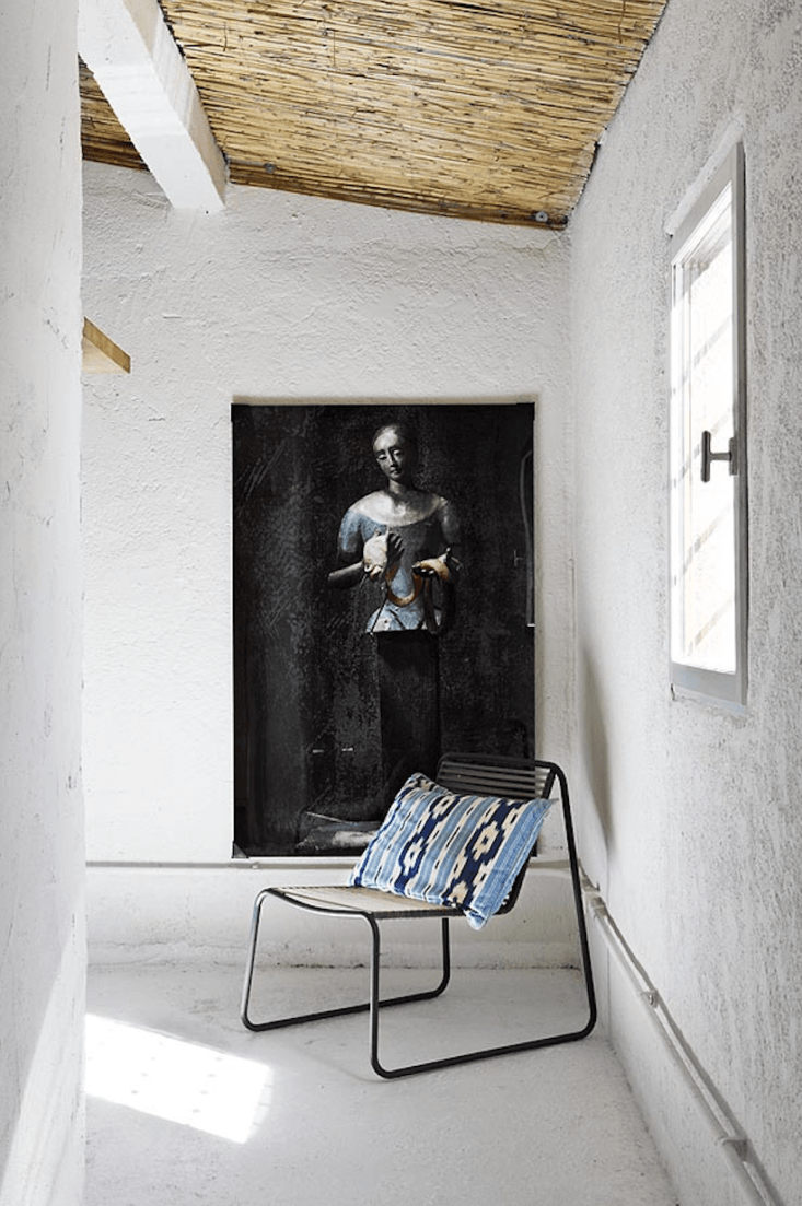Spanish Eclectic An Airy Stable Turned Guest House on the Mediterranean Coast An unexpected pairing.