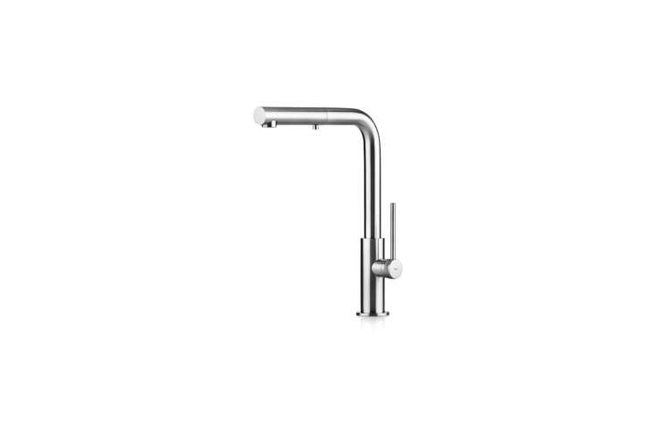The Italian MGS Spin Kitchen Faucet, available in matte or polished stainless steel, is $loading=