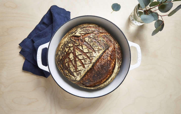 Milo launched last week, with one product: a solid cast iron Dutch oven coated in glossy white enamel with an exposed iron rim. It holds 5.3 liters (a little more than 5½ quarts), which the company says can hold dinner for up to six people.