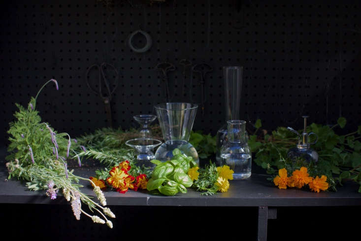 Trending on Gardenista In the Chefs Garden Michelle&#8\2\17;s deconstructed arrangement in glass vases looks artful—and will keep bugs at bay. SeeMosquito Repellent: 5 Flowers and Herbs to Keep Pests Away for the only arrangement to keep on your patio or porch all spring and summer.