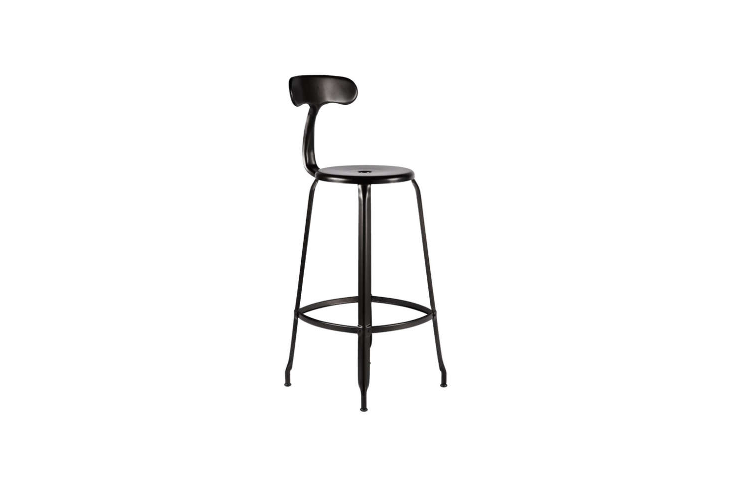 The Nicolle Counter Stool in matte black is $369 at Rejuvenation. For more on the counter stool, see our postDesign Sleuth: Industrial Kitchen Stools from Nicolle in France.