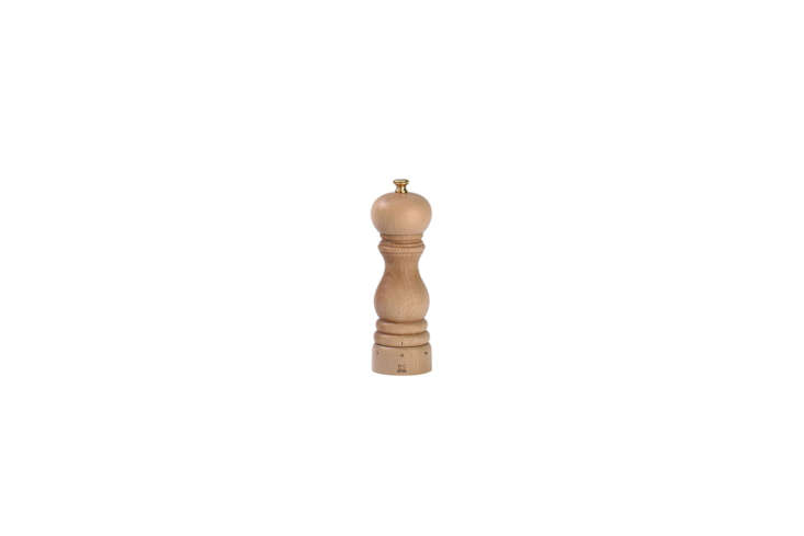 The classic French-made Peugeot Salt and Pepper Shakers are available in five sizes (shown here in 5 inches) and starts at $37 for the salt or pepper mill. A set in the 5-inch size costs $74 from Williams Sonoma.