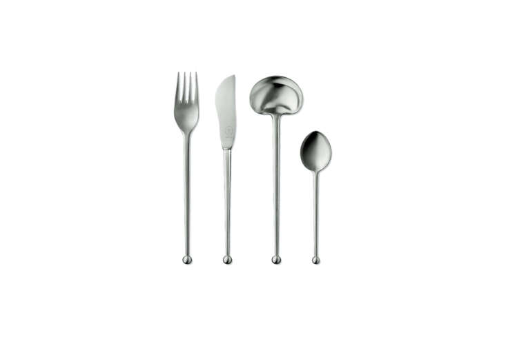 The Pott No. 86 Five-Piece Place Setting in sterling silver is the Rolls-Royce of our picks. Designed by Josef Hoffman in 55 for Carl Pott, the flatware is handmade in Germany in a limited edition each year; $loading=