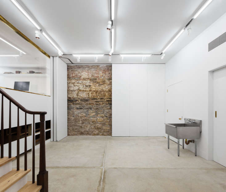 A simple but spotless basement, as seen inLayers of History—and Color—in an Artist Couple's  Manhattan Townhouse.Photography byDevon Banks, courtesy of Yun Architecture.